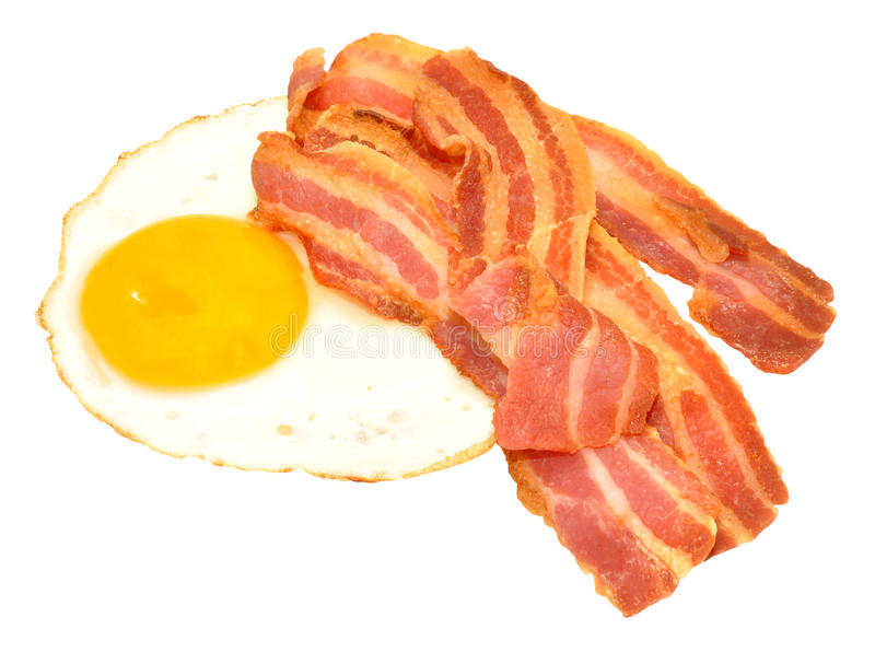 Fried Egg And Bacon Rashers fotografia de stock royalty free