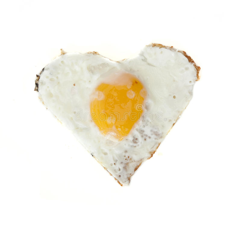 Fried Egg In Heart Shape Royalty Free Stock Photography