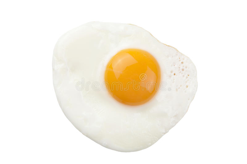 Fried egg isolated royalty free stock image