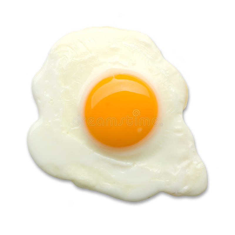 Fried egg isolated royalty free stock images