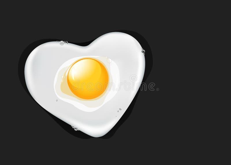 Download Fried egg like heart stock illustration. Image of drop - 24524471
