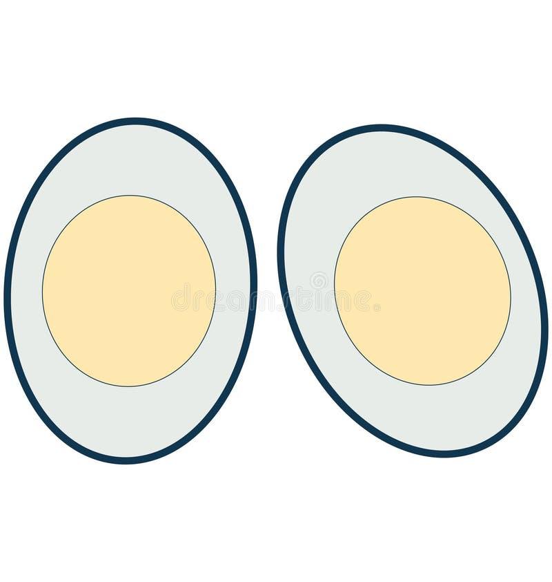 Fried Egg Line Vector Isolated-aangepast en editable Pictogram royalty-vrije illustratie