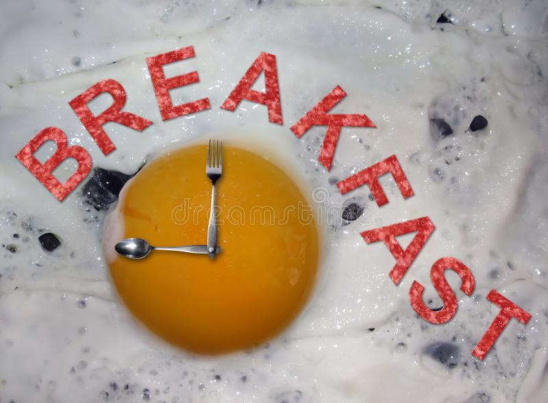 Time to breakfast stock photography