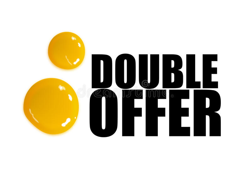 Download Double offer illustration stock vector. Illustration of block - 10598291