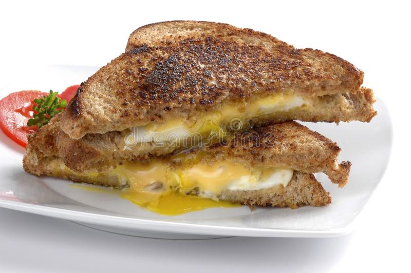 Fried Egg Sandwich royalty free stock photography