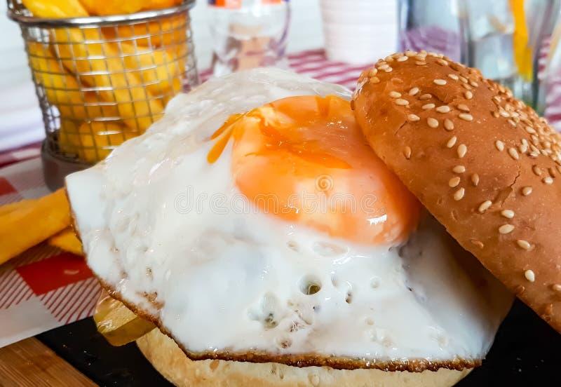 Fried Egg Sandwich stock images
