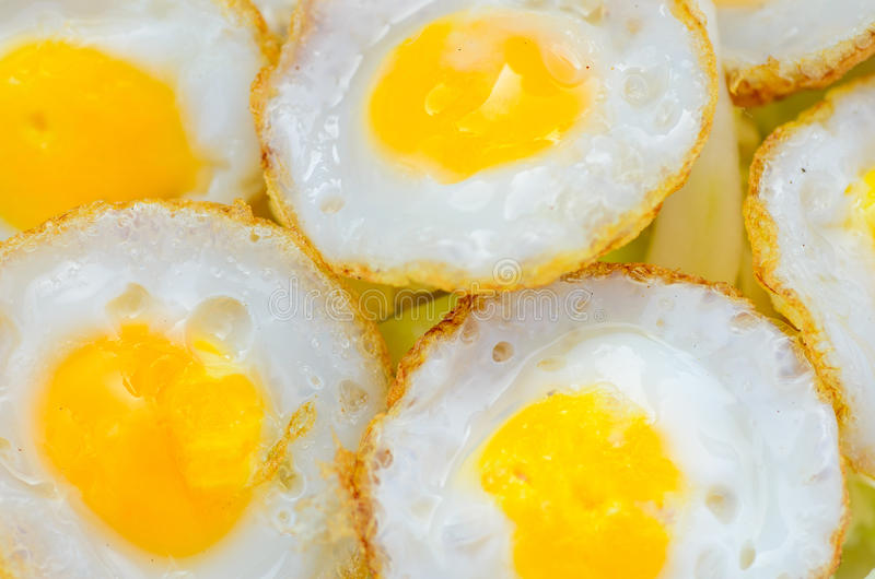 Fried egg. Small fried egg for eat royalty free stock photos