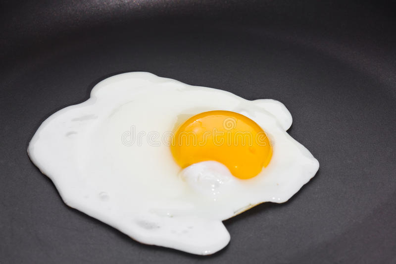 Fried egg, sunny side up stock images