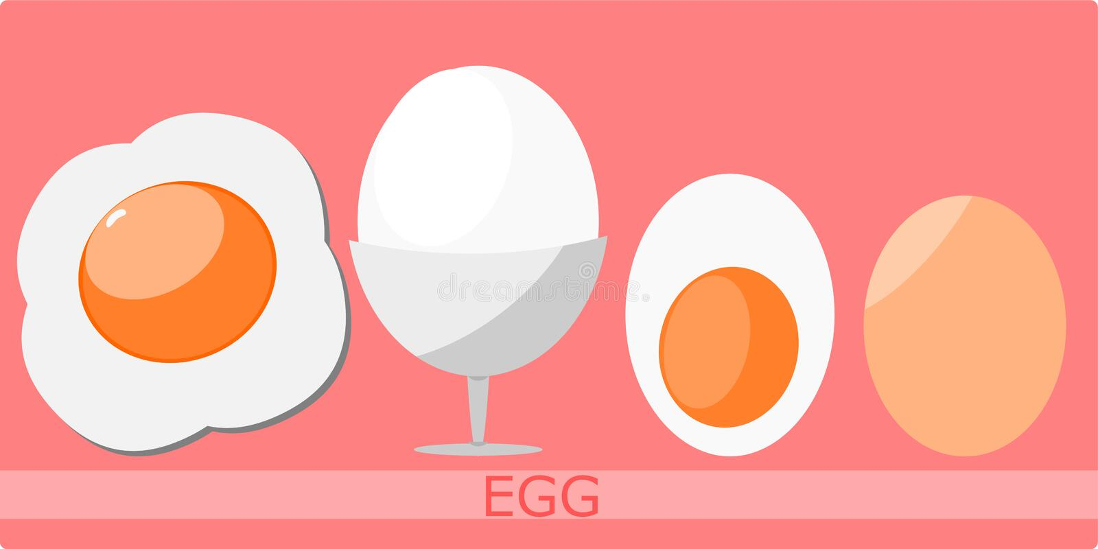 Fried egg with vector format royalty free stock images