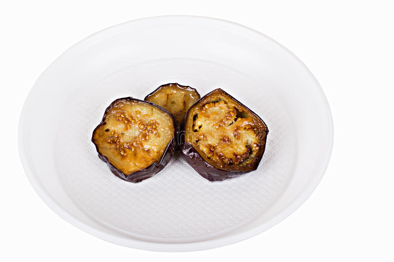 Download Fried eggplant slices stock photo. Image of vegetarian - 26683466