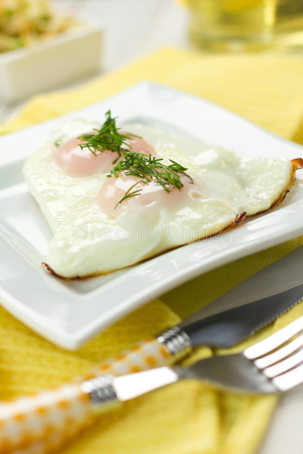 Download Fried eggs stock image. Image of fried, dish, cooked - 27361169