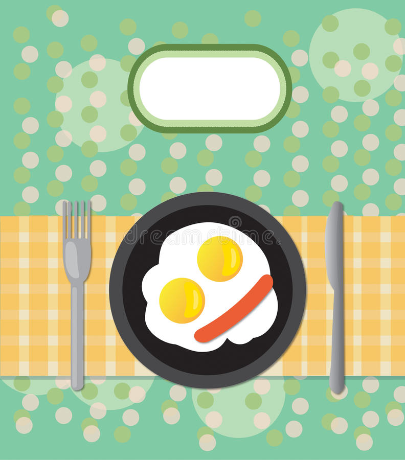 Download Fried eggs stock photo. Image of cloth, label, cafe, decorative - 27446680