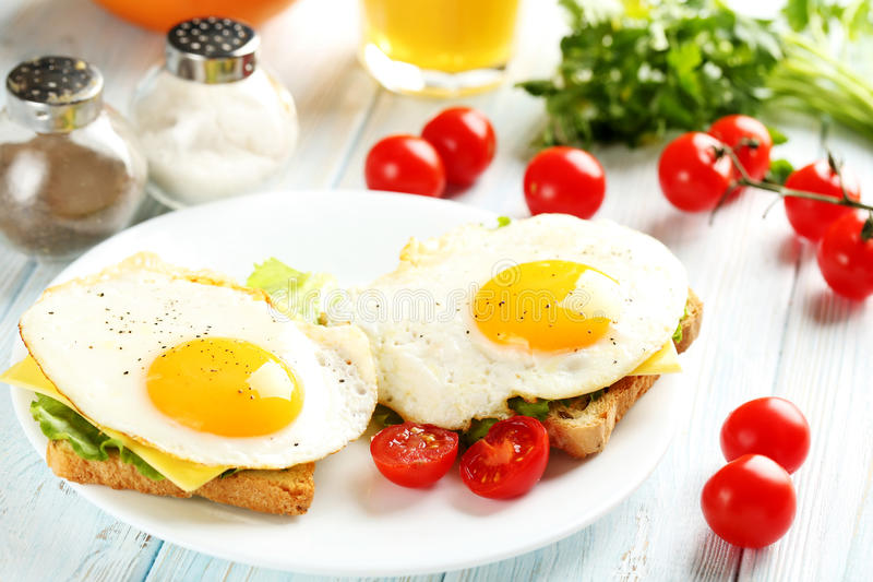 Fried Eggs imagem de stock royalty free