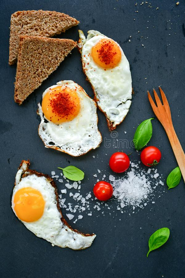 Fried Eggs royalty free stock images