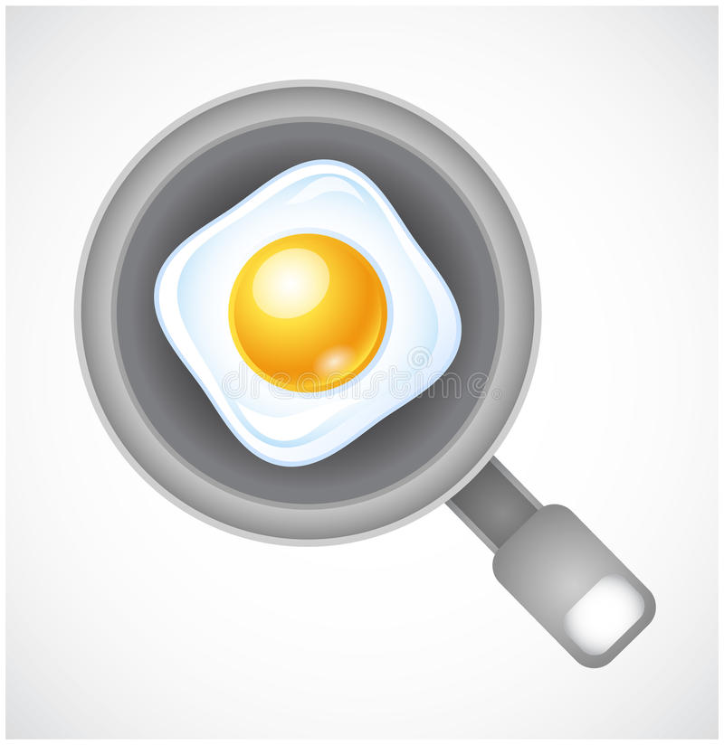 Fried Eggs On A Fryer Stock Photography