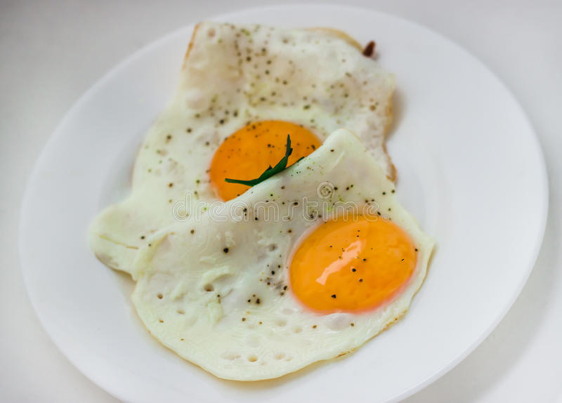 Fried eggs royalty free stock photo