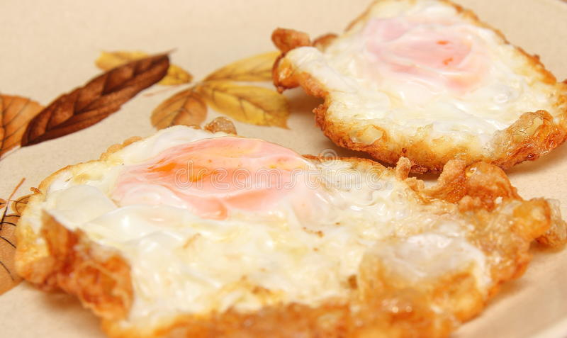 Download Fried Eggs On A Hot Plate Stock Photo - Image: 83700299