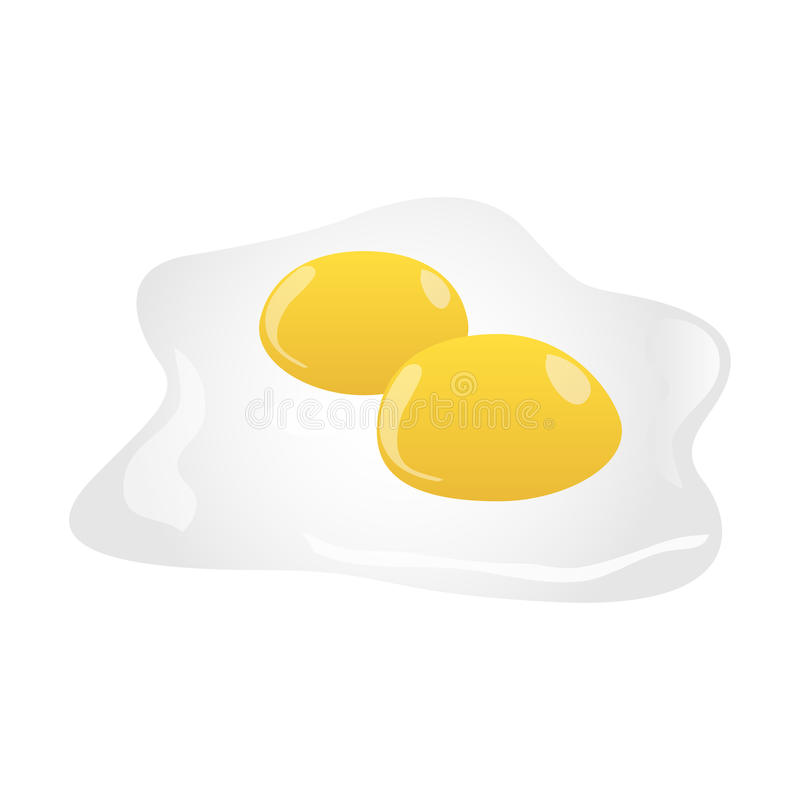 Download Fried Eggs Isolated On White Stock Vector - Illustration: 33123947