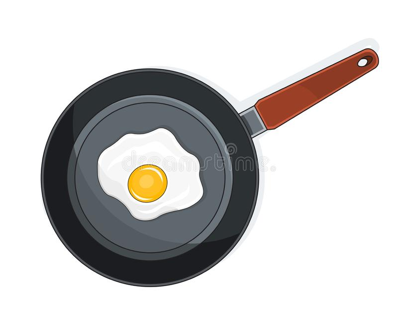 Download Fried eggs on pan stock vector. Illustration of clipart - 22066181