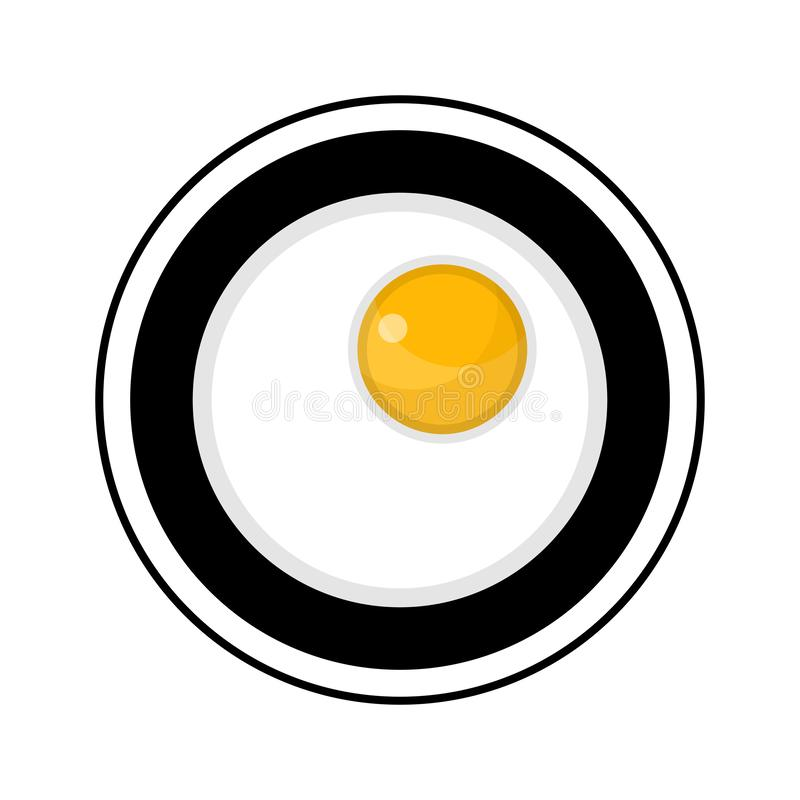 Fried eggs on a plate royalty free illustration