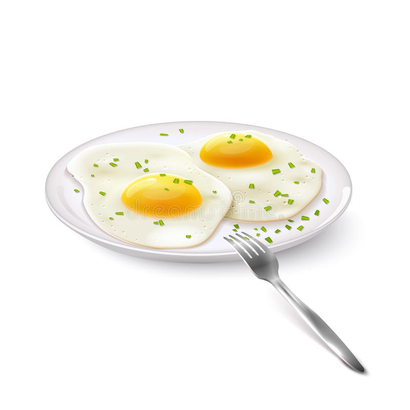 Fried Eggs Realistic illustration libre de droits