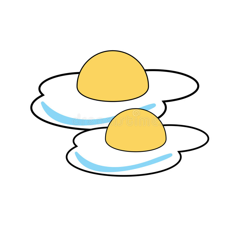 Fried Eggs vector illustration royalty free stock image