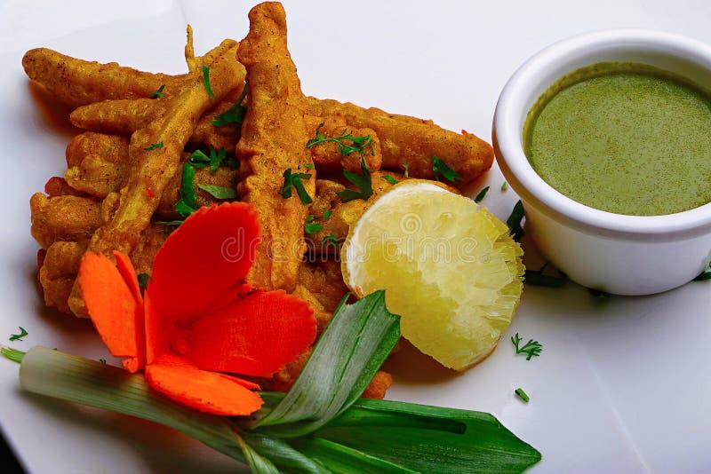 Fried Finger Chips Pune Indien arkivfoton