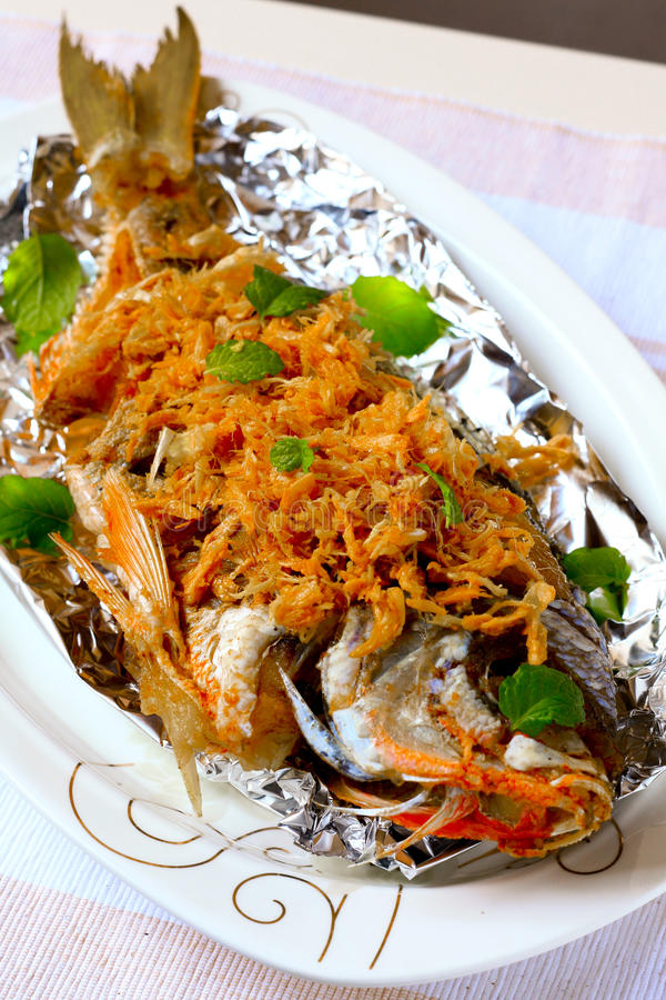 Fried Fish royalty-vrije stock foto