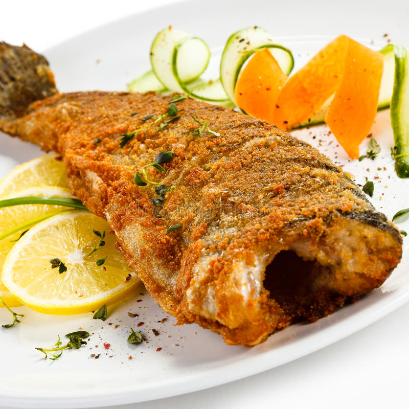 Free Fried Fish Stock Photography - 54934402