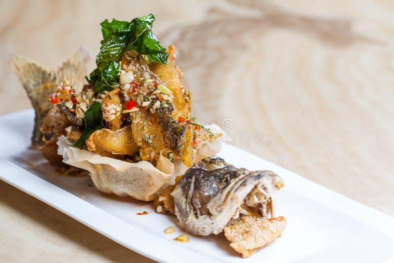 Fried Fish avec photos libres de droits