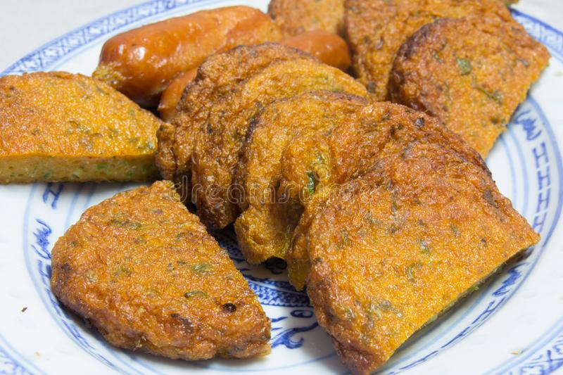 Fried Fish Cakes Thai Food stock images