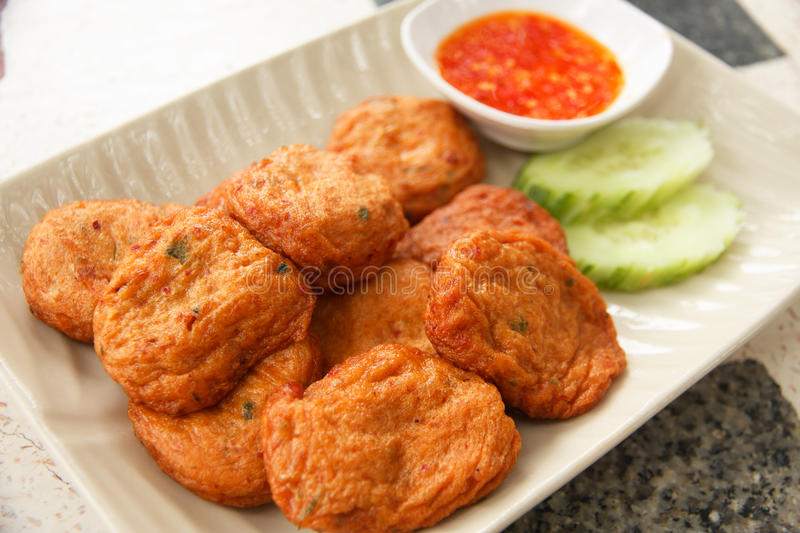 Fried Fish Cakes Thai Food - Stock Image royalty free stock photos