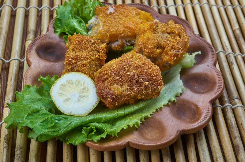 Fried Fish creolo immagine stock