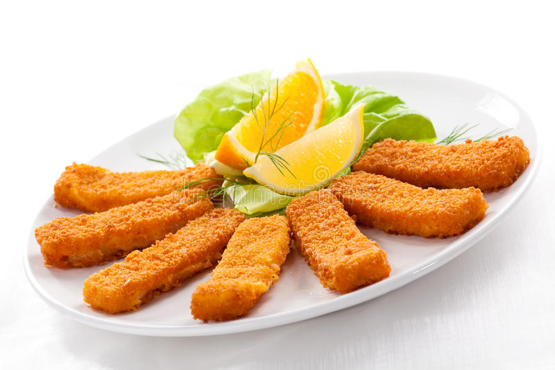 Fried fish fingers stock photo image of dine nutrition for Fried fish nutrition