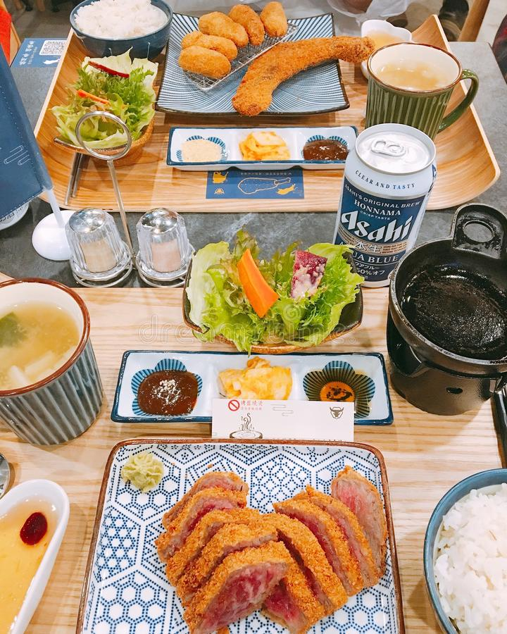 Fried Food on Plate stock image