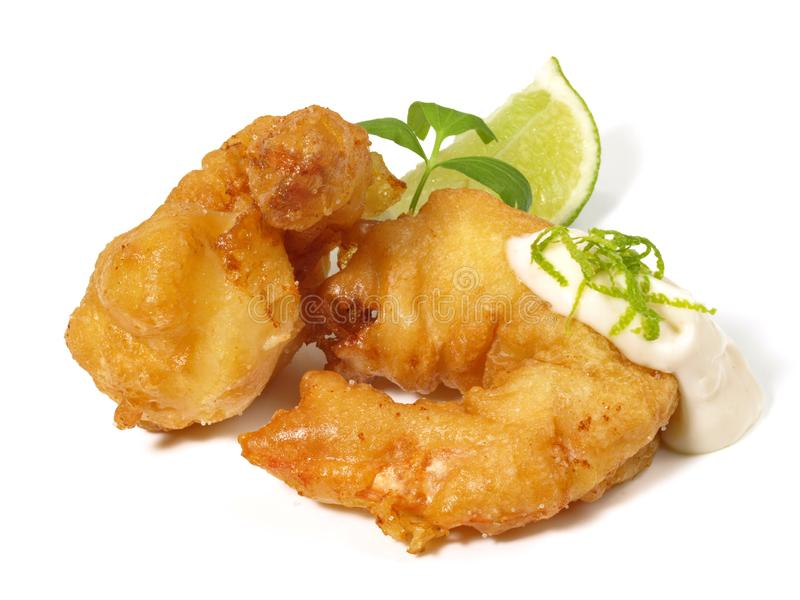 Fried Gamba Shrimp stock foto's