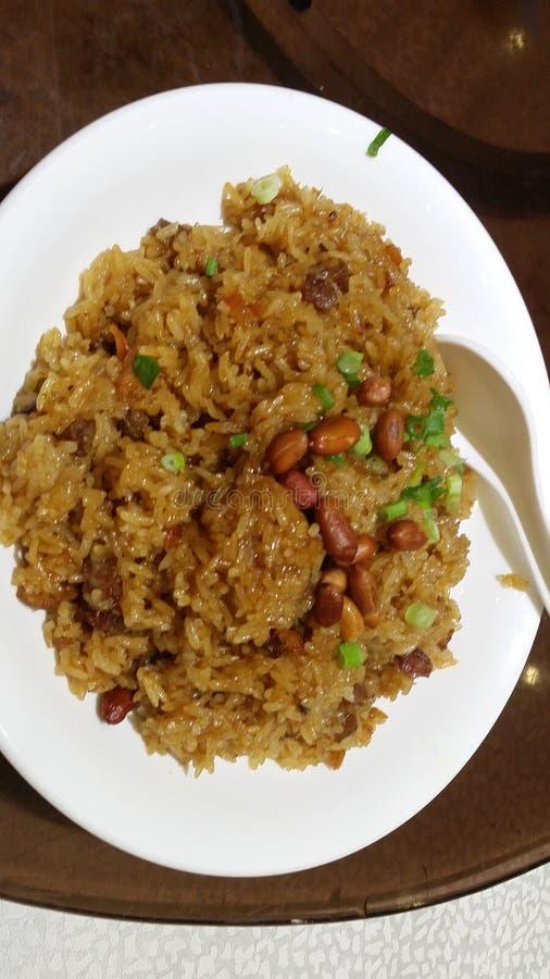 Fried Glutinous Rice com estilo chinês foto de stock royalty free