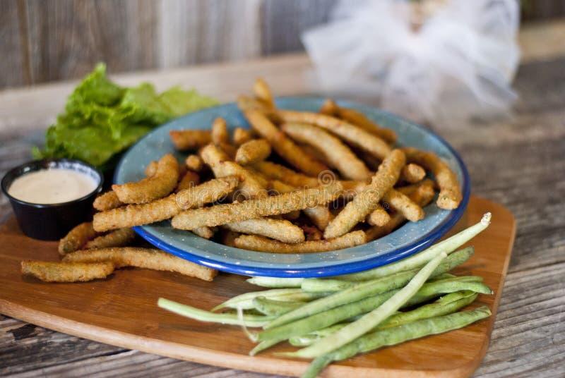 Fried Green Beans imagen de archivo libre de regalías