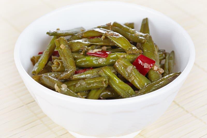 Fried green beans stock photos