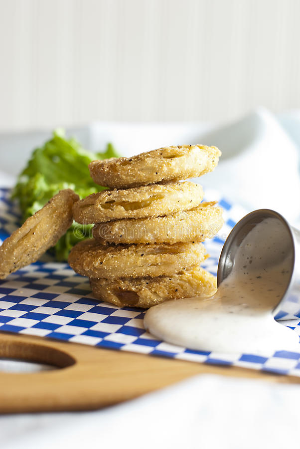 Fried Green Tomatoes stock foto's