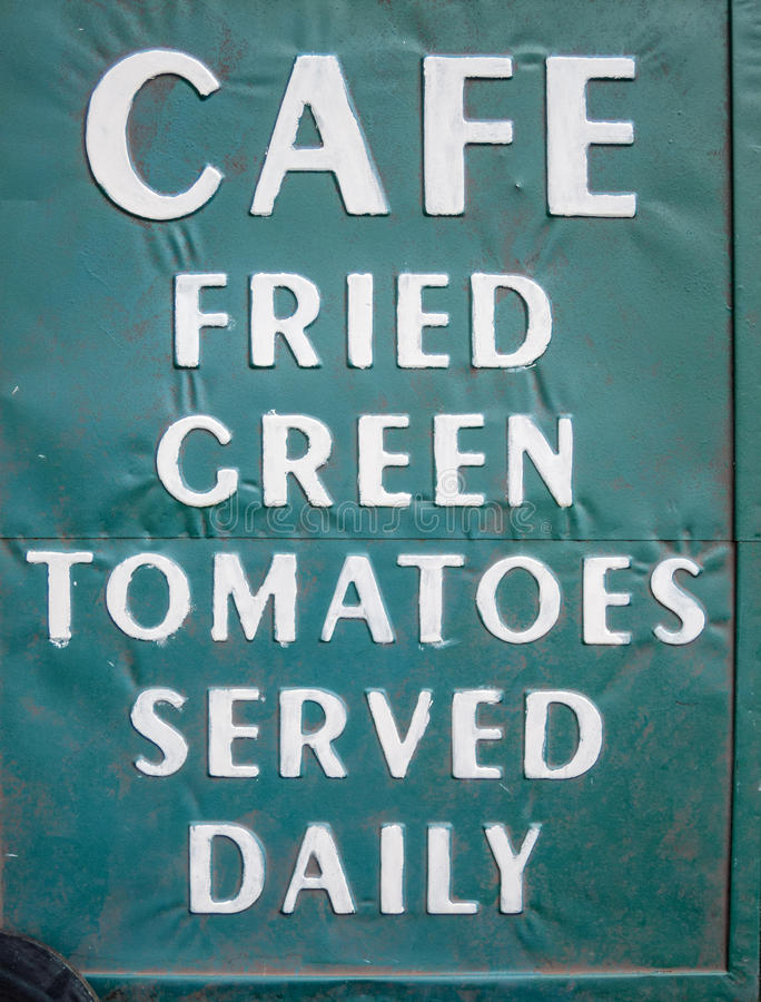 Fried green tomatoes served daily royalty free stock photo