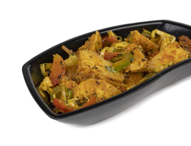 Fried Idli and chutney stock image