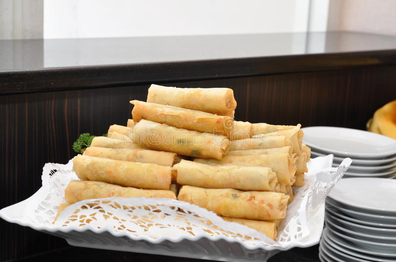 Fried Indonesian Spring Roll royalty free stock image