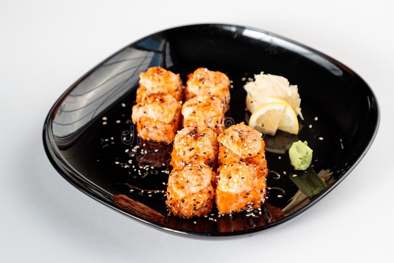 Fried Japanese arriva a fiumi una banda nera immagine stock