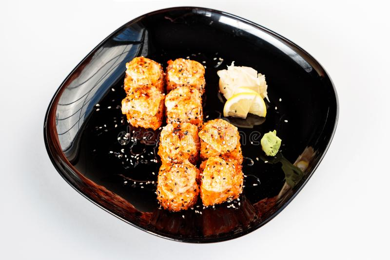 Fried Japanese arriva a fiumi una banda nera immagine stock