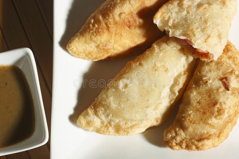 Fried Leek Pastry da Índia imagem de stock royalty free