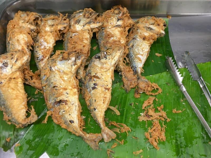 Fried Mackerel Fish para a venda foto de stock royalty free