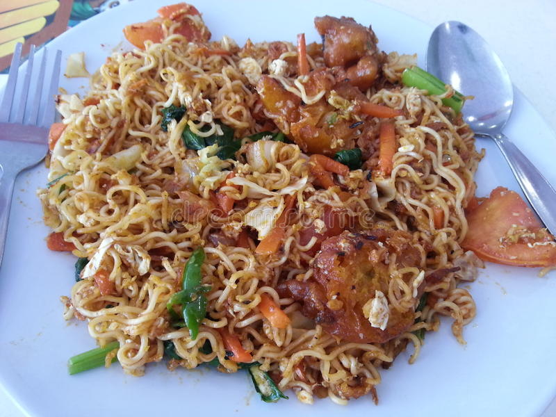 Fried Maggie Mee royalty free stock photos