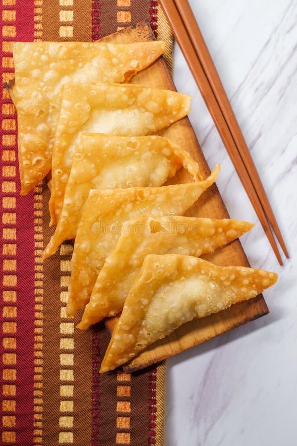Fried Mandu Dumplings coréen photo libre de droits
