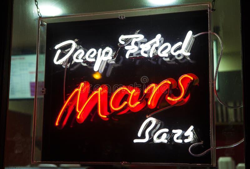 Fried Mars Bars profond photographie stock libre de droits